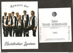ITALIA - Etichetta Vino TERLANER Doc 1993 Cantina Di GRIES Bianco Del TRENTINO-ALTO ADIGE - KASTELRUTHER SPATZEN - Vino Bianco