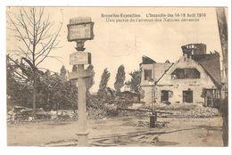 Brussel - Bruxelles-Exposition - L'incendie Des 14-15 Août 1910 - Une Partie De L'avenue Des Nations Dévastée - Expositions Universelles