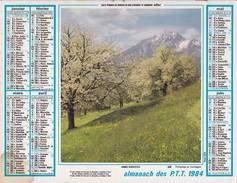 Almanach Du Facteur OLLER  Calendrier  LA POSTE 1984  60 OISE - Big : 1981-90