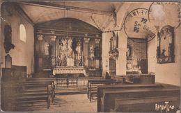 17-CROIX-CHAPEAU-Intérieur Eglise...1934  (défauts) - Autres Communes