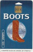 Mexico - Ladatel - Boots Blue - P-0760B - 30$, 10.2001, Used - Messico
