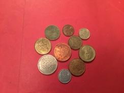 Lot De 10 Pièces Voir Le Scan - Monedas & Billetes