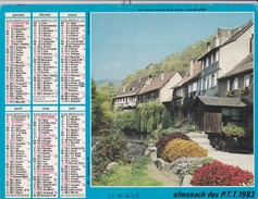 Almanach Des P.T.T 1983  OLLER  Calendrier  60 OISE - Big : 1981-90