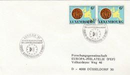 1987 LUXEMBOURG European ENVIRONMENT YEAR EVENT COVER Franked 2x TREATY OF ROME Stamps European Community Map - Luxembourg