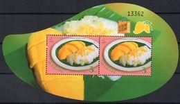 THAÏLANDE 2015 - Cuisine Thaï, 50e Ann Relations Avec Singapore, Surchargé Hong Kong 2015 Expo Phila - BF Neufs // Mnh - Thailand
