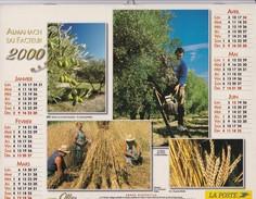 Almanach Du Facteur 2000   OLLER  Calendrier  02 Aisne - Big : 1991-00