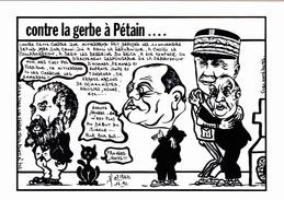 CPSM  J. JAURES  PETAIN BARRE MITTERRAND Politique Caricature Tirage Limité Iluustrateur J. LARDIE - Lardie