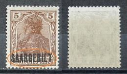 Saargebiet 1920 **Mi.Nr.44 Aufdruck Plattenfehler Postfrisch   (R203) - Nuovi