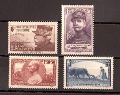 1940 - N° 454 à 457 - Neufs ** - Au Profit Des Oeuvres De Guerre - Frankreich