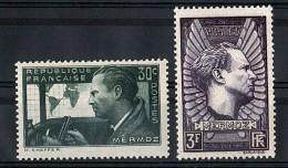 1937 - N° 337 Et 338 - Neufs ** - Jean Mermoz - France