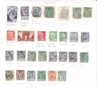 Type SAGE , Lot De 19 Timbres Tous Obl Cachets De La SEINE  + Autres Timbres Non Comptés  , TB - Storia Postale (Francobolli Sciolti)
