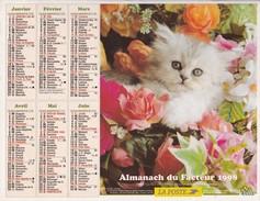 Almanach Du Facteur 1998   OLLER  Calendrier  02 Aisne - Big : 1991-00