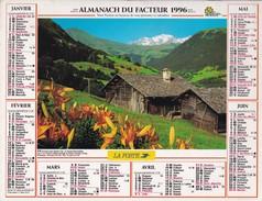 Almanach Du Facteur 1996   OLLER  Calendrier  02 Aisne - Big : 1991-00