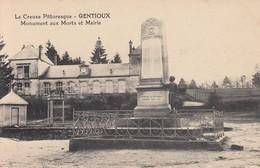 Gentioux - Monument Aux Morts Et Mairie - Autres Communes