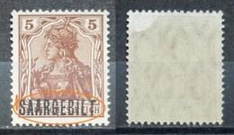 Saargebiet 1920** Mi.Nr.44 Aufdruck Plattenfehler Postfrisch   (R204) - Nuovi