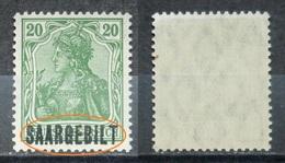Saargebiet 1920** Mi.Nr.46 Aufdruck Plattenfehler Postfrisch   (R205) - Nuovi