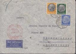 """DR 522, 525, 528 MiF Auf Luftpostbrief Mit Stempel: Deutsche Luftpost Europa-Südamerika """"b"""", Berlin 7.2.1939 - Luftpost"""