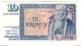 Iceland 10 Kronur 1961/1981 Low S/N A00 UNC .C. - Iceland