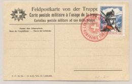 Schweiz - Feldpostkarte Von Der Truppe - Stamp And Cancel Landsturm Infanterie Kompagnie 1/30 - Documenten