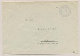 Schweiz - Cover Sent From Feldpost Schützen KP I/101 To Bern - Documenten