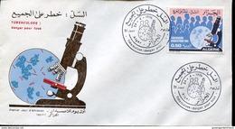 24758 Algerie,  Fdc  1976  Tubercolosis,  Tubercolose,  TBC  (robert Koch) - Medicine