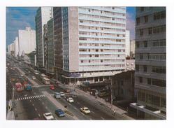 Brasil Touristico 07 Juiz De Fora MG Av Rio Branco VOIR DOS QSL Radio ? En 1982 VW Käfer BUS Camion - Brésil
