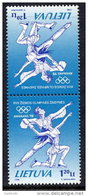 LITHUANIA 1998 Winter Olympics Tete-beche Pair MNH / ** . Michel 657 KD - Lithuania