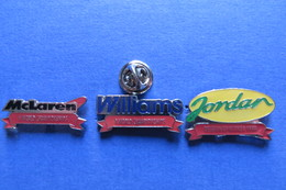 3 Pin's, Autosport, Championships, JORDAN, WILLIAMS,McLAREN - Car Racing - F1