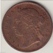 @Y@     STRAITS SETTLEMENTS 1/2 Cent 1873 Copper (2763) - Inde