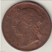 @Y@     STRAITS SETTLEMENTS 1/2 Cent 1873 Copper (2763) - India