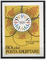 ALBANIA, 100th YEAR ANNIVERSARY OF THE INTERNATIONAL OLYMPIC COMMITTEE 1995, NH BLOC - Albanie