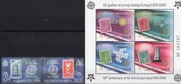 CEPT 1956-2006 Salomon 1230/1 ZD,Crna Gora Bl.2 A ** 32€ BRD 242 Italy 1016 Hb Bloc Ss Se-tenant Bf Stamp On Stamps - Salomon (Iles 1978-...)