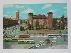 TORINO - Piazza Castello - Lato Monumento Duca D' Aosta - Tram Corriera Auto Filobus - Italia