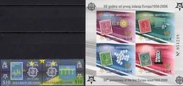 CEPT 1956-2006 Salomon 1228/9 ZD, Crna Gora Bl.2 B ** 87€ NL 987 Norge 905 Hb Bloc S/s Se-tenant Bf Stamp On Stamps - Salomon (Iles 1978-...)