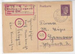 GS Der Hitlerjugend 21/599 Aus SEBEXEN über Kreiensen 2.12.44 - Covers & Documents