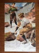 (alpinisme) Richard MAHN: Deux Femmes Alpinistes Mettent Leur Crampons Avant De S'encorder, 1908, TBE. - Illustrateurs & Photographes