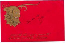 CPA Diable Devil Krampus Circulé En 1904 Gaufré Sur La Carte Postale - Glaube, Religion, Kirche