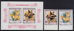 H0017 MADAGASCAR (MALAGASY) 1992, 1992 SG913 +918 With M-sheet, IMPERF MNH, Dogs, Chiens - Madagascar (1960-...)