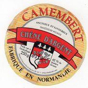 Nov17    61114    étiquette  Camembert   Chêne D'argent - Formaggio