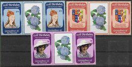 1982 SAINT VINCENT Grenadines 243-45** Diana, Armoirie, Paire Avec Pont, Fleur - St.Vincent & Grenadines