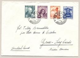Schweiz - 1938 - Pro Juventute Set On Cover From Basel To Gross-Siegharts / Deutschland - Briefe U. Dokumente