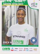 Original Volleyball Autograph Card ERICA MATRECE WILSON ( USA )  Team USC Münster Germany - Women Bundesliga 2016 / 2017 - Volleyball