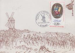 Carte   Bicentenaire  De  La  Révolution    Bataille  De  VALMY   1989 - Révolution Française