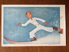 (ski) SAMIVEL: Le Maître à Skier (n° 13 D'une Série De 16 Cartes), 1937, TBE. - Samivel