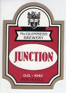 McGUINNESS BREWERY (ROCHDALE, ENGLAND) - JUNCTION - PUMP CLIP FRONT - Signs