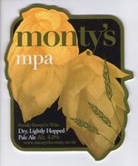 MONTY'S BREWERY (MONTGOMERY, WALES) - MONTY'S MPA - PUMP CLIP FRONT - Signs