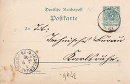 Postkarte - Reichspost - 5 Pfennig - 1890 (31321) - Allemagne
