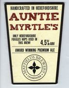 MAYFIELD BREWERY (LEOMINSTER, ENGLAND) - AUNTIE MYRTLE'S PREMIUM ALE - PUMP CLIP FRONT - Signs