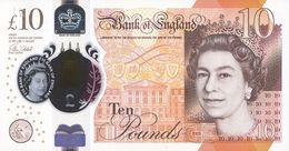 GREAT BRITAIN 10 POUNDS 2016 (2017) P-395a UNC  [GB395a] - 1952-… : Elizabeth II