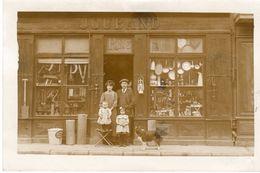 42 Loire MONTBRISON RARE 2 Cartes Photo De La Quincaillerie JOUBAND Situé Rue Tupinerie Jusqu'en 1910 - Montbrison
